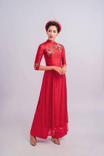 áo dài cưới 1 6 Lưu ý khi mặc áo dài cưới các nàng không thể bỏ qua