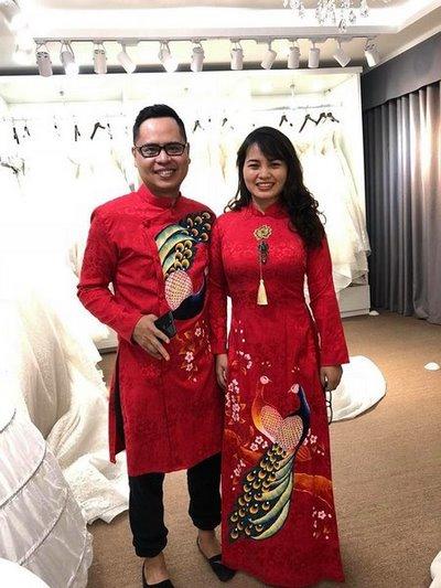 áo dài cưới 2 Các mẹo chọn áo dài cưới cho cô dâu có thân hình mập mạp