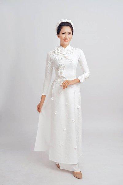 áo dài cưới 2 6 Lưu ý khi mặc áo dài cưới các nàng không thể bỏ qua