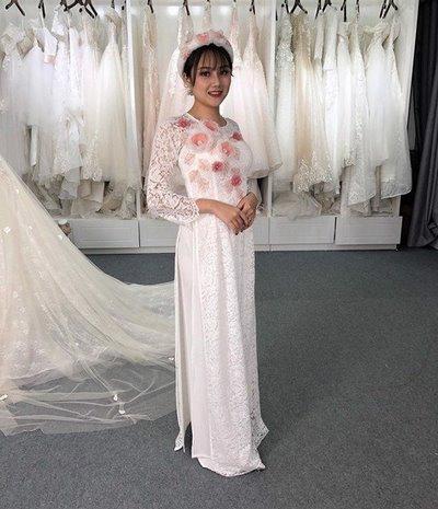 áo dài cưới 4 Các mẹo chọn áo dài cưới cho cô dâu có thân hình mập mạp