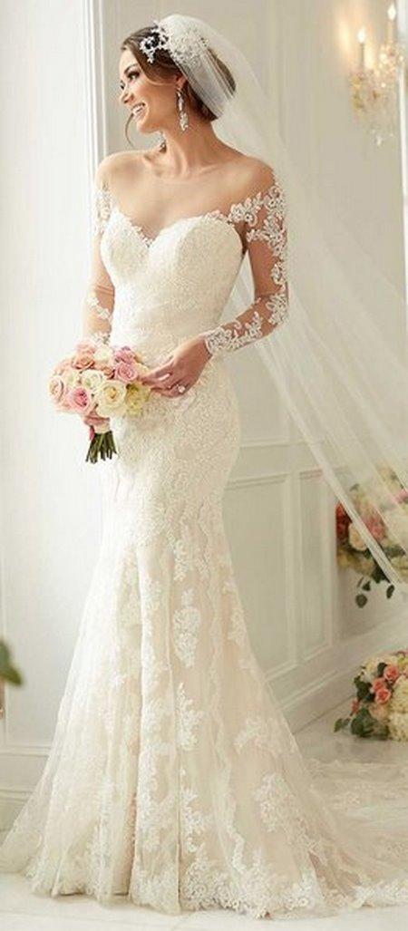 váy cưới trễ vai 1 Say đắm với 100 mẫu thiết kế váy cưới trễ vai đẹp nhất 2020