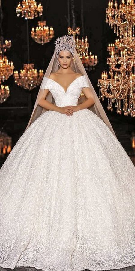 váy cưới hở vai Say đắm với 100 mẫu thiết kế váy cưới trễ vai đẹp nhất 2020