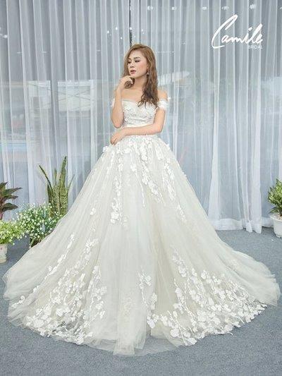 Thiết kế váy cưới 15 Say đắm với những mẫu thiết kế váy cưới 2019 đẹp của Camile Bridal