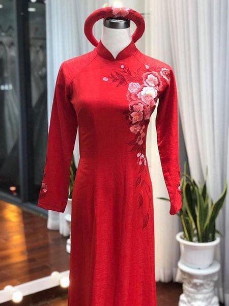 áo dài cưới3 Thuê áo dài cưới Hà Nội cao cấp giá rẻ chỉ từ 1 triệu ở Camile Bridal