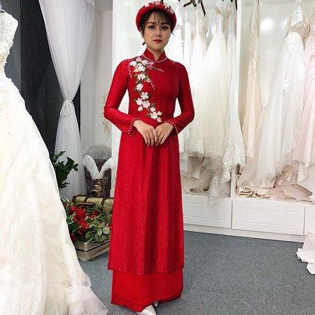 áo dài cưới Xu hướng lựa chọn áo dài cưới 2018 cho các cô dâu Việt