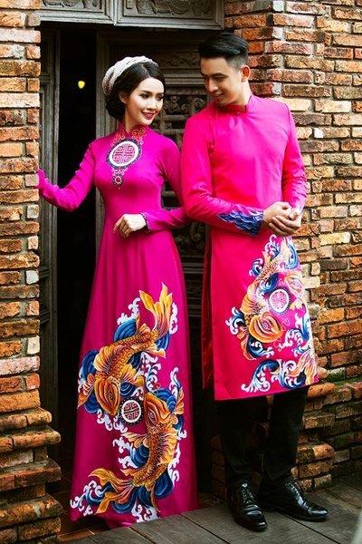 áo dài cưới cặp Top 100 mẫu áo dài cưới cặp đẹp, sang trọng dành cho cô dâu chú rể