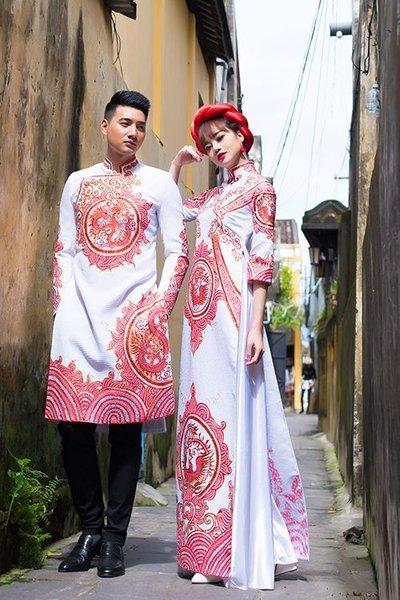 áo dài cưới cặp Top 100 mẫu áo dài cưới cặp đẹp, sang trọng dành cho cô dâu chú rể Trang chủ
