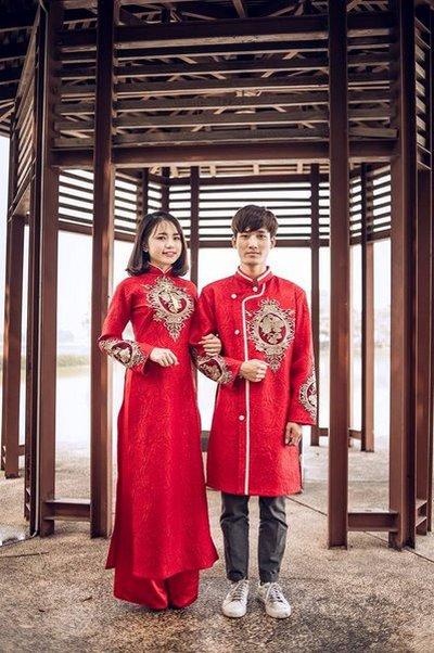 áo dài cưới cho chú rể Top 100+ mẫu áo dài cưới cho chú rể lịch lãm và sang trọng nhất 2019