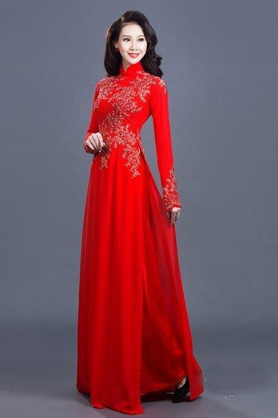 may áo dài cưới đẹp 100+ mẫu áo dài cưới đẹp nhất hiện nay dành cho các cô dâu