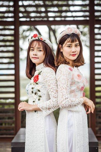 áo dài đám cưới 1 Áo dài đám cưới có khác áo dài đám hỏi không?