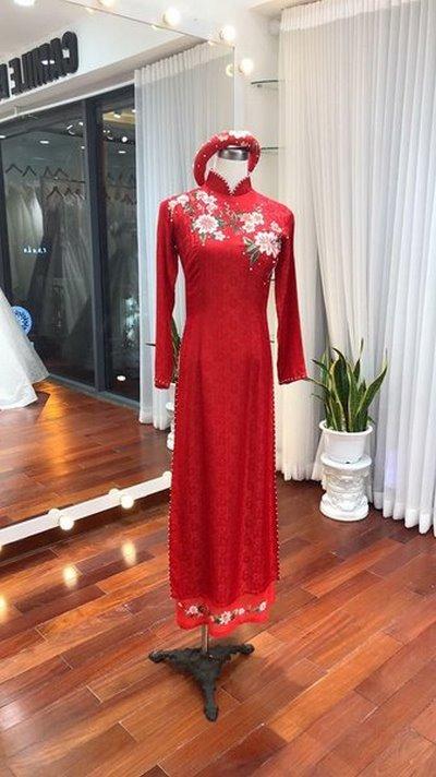 áo dài đám cưới 3 Áo dài đám cưới có khác áo dài đám hỏi không?