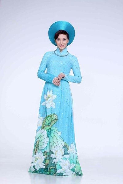 Áo dài hoa sencưới Bí quyết chọn áo dài hoa sen cưới tuyệt đẹp cho cô dâu