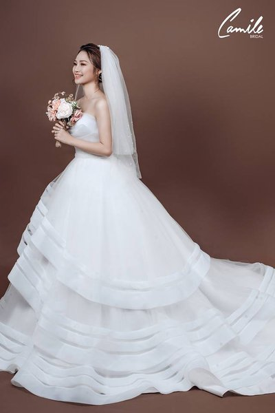 đầm cô dâu Top 100 mẫu thiết kế đầm cô dâu màu trắng đẹp thanh lịch, tinh khôi