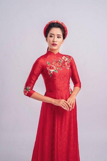may áo dài cưới 1 Top 10 địa chỉ may áo dài cưới đẹp và nổi tiếng nhất tại Hà Nội