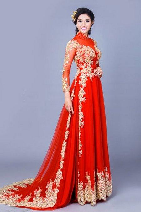 may áo dài cưới 13 Top 10 địa chỉ may áo dài cưới đẹp và nổi tiếng nhất tại Hà Nội