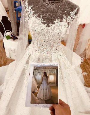váy cưới cao cấp 6 Địa chỉ thiết kế áo cưới cao cấp theo yêu cầu đẹp nhất Hà Nội