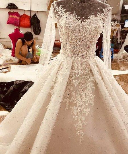 váy cưới cao cấp 7 Địa chỉ thiết kế áo cưới cao cấp theo yêu cầu đẹp nhất Hà Nội