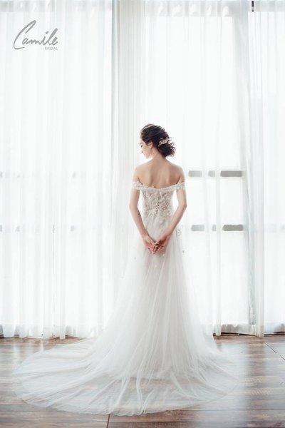 váy cưới chữ A3 Hóa nàng tiên đến từ thiên đường với mẫu váy cưới chữ A quyến rũ