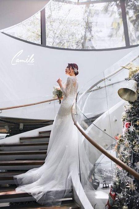 thiết kế áo cưới 1 Tổng hợp 100 mẫu thiết kế áo cưới dành cho cô dâu gầy đẹp 2020