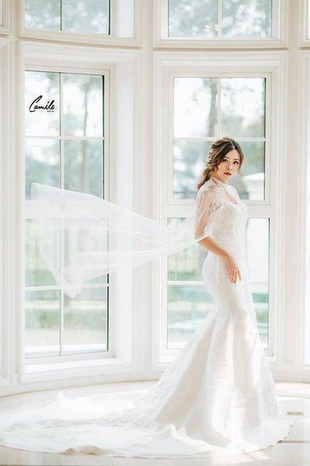 thiết kế áo cưới 4 Tổng hợp 100 mẫu thiết kế áo cưới dành cho cô dâu gầy đẹp 2020