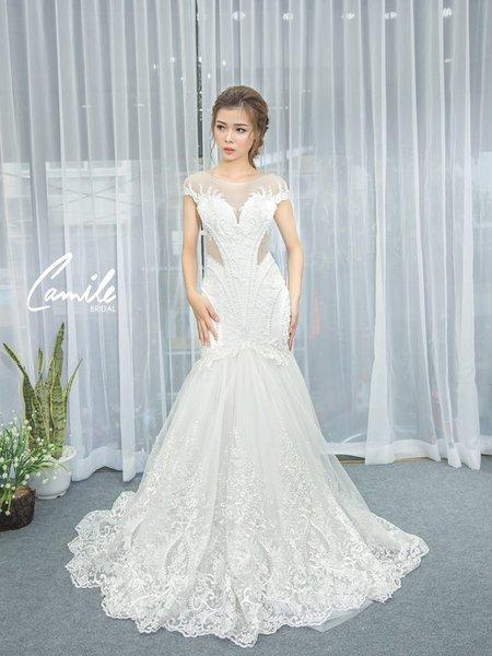 thiết kế áo cưới 5 Tổng hợp 100 mẫu thiết kế áo cưới dành cho cô dâu gầy đẹp 2020