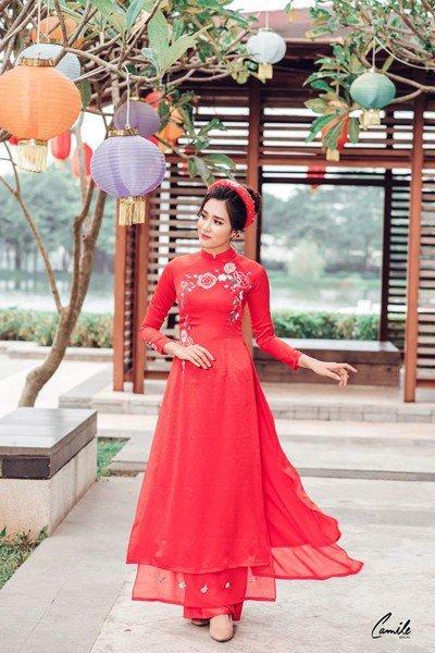thiết kế áo dài cưới Top 30 thiết kế áo dài cưới đẹp, sang trọng nhất 2019 cho cô dâu Việt