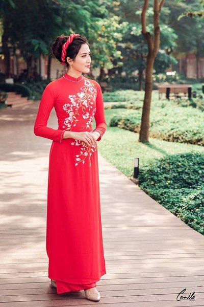 thiết kế áo dài cưới Top 30 thiết kế áo dài cưới đẹp, sang trọng nhất 2021 cho cô dâu Việt