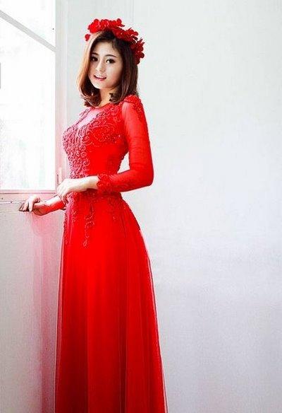 thuê áo dài cưới 1 Cô dâu tóc ngắn có nên thuê áo dài cưới?
