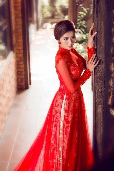thuê áo dài cưới 3 Cô dâu tóc ngắn có nên thuê áo dài cưới?