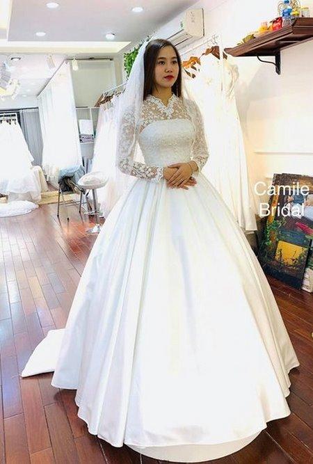 Thuê áo cưới 11 Thuê áo cưới cho cô dâu mập đẹp và rẻ nhất tại Hà Nội