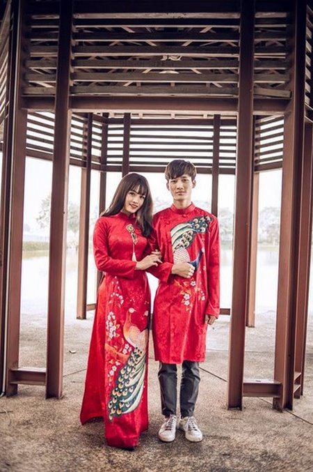 Thuê áo dài cưới 1 Thuê áo dài cưới cặp ở đâu Hà Nội vừa đẹp, vừa rẻ?