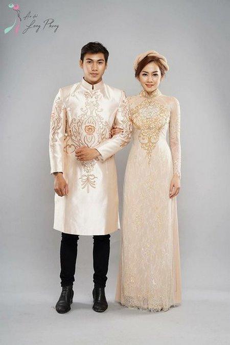 Thuê áo dài cưới 2 Thuê áo dài cưới cặp ở đâu Hà Nội vừa đẹp, vừa rẻ?