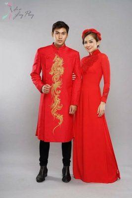 Thuê áo dài cưới 3 Thuê áo dài cưới cặp ở đâu Hà Nội vừa đẹp, vừa rẻ?
