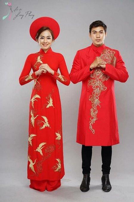 Thuê áo dài cưới 5 Thuê áo dài cưới cặp ở đâu Hà Nội vừa đẹp, vừa rẻ?