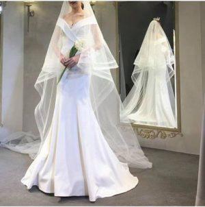 Thuê váy cưới Satin 7 Thuê váy cưới Satin – Vẻ đẹp tinh tế đến từ sự đơn giản