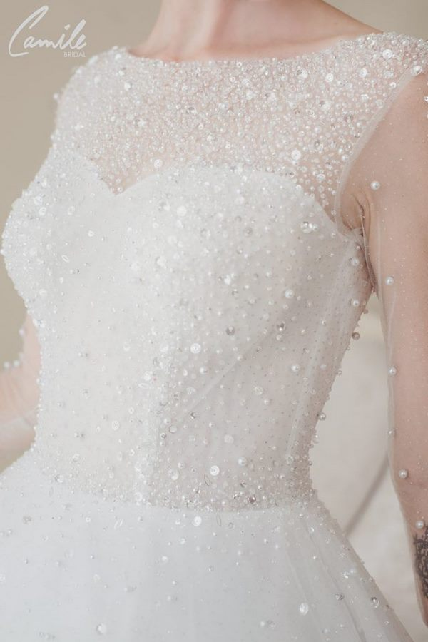 váy cưới cao cấp 4 Sang trọng và đẳng cấp với mẫu thiết kế áo cưới Cinderella's Pearl Wedding Dress