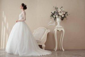 váy cưới cao cấp 9 Sang trọng và đẳng cấp với mẫu thiết kế áo cưới Cinderella's Pearl Wedding Dress