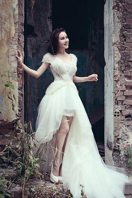 thuê váy cưới đẹp 3 Tuyệt chiêu chọn thuê váy cưới đẹp cho cô dâu lùn