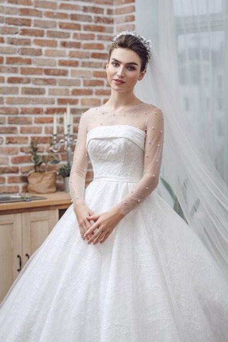 """váy cưới cao cấp 1 Ngất ngây với BST váy cưới ngọt ngào tháng 9 """"The Winter Crystal 2019"""""""