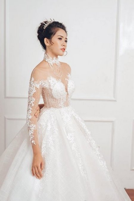 """váy cưới cao cấp 14 Ngất ngây với BST váy cưới ngọt ngào tháng 9 """"The Winter Crystal 2019"""""""
