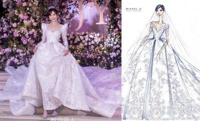 thiết kế váy cưới đẹp 1 Những mẫu váy cưới đẹp nhất của các sao Hoa ngữ