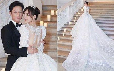 thiết kế váy cưới đẹp2 Những mẫu váy cưới đẹp nhất của các sao Hoa ngữ