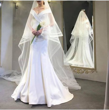 váy cưới nhẹ nhàng 1 Đẹp dịu dàng với váy cưới BST váy cưới nhẹ nhàng của Camile Bridal