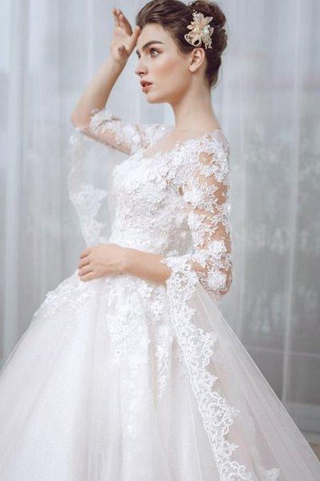 Váy cưới ren 9 Hóa thiên thần với BST áo cưới ren siêu lãng mạn của CAMILE BRIDAL