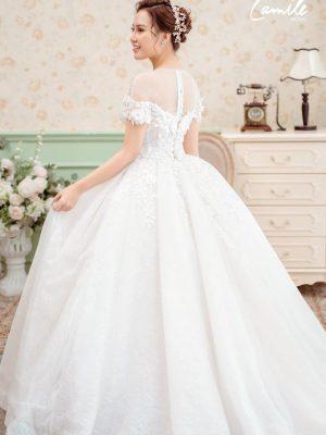 Mẫu váy cưới trắng công chúa 1