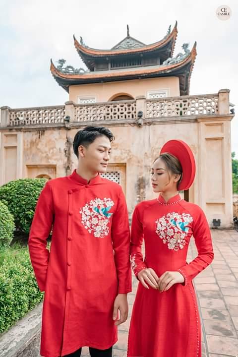 Thuê áo dài cưới cặp ở đâu Hà Nội vừa đẹp, vừa rẻ?