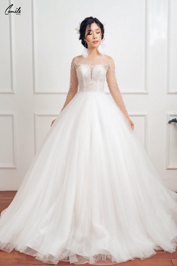 váy cưới dành cho người lùn 11 Địa chỉ cho thuê váy cưới dành cho người lùn đẹp nhất tại Hà Nội