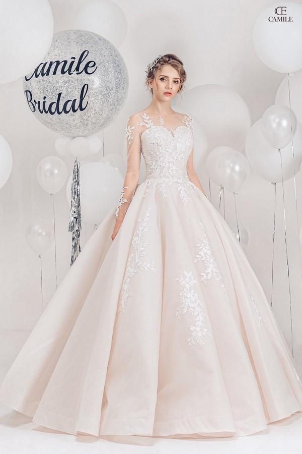 váy cưới dành cho người lùn 14 Địa chỉ cho thuê váy cưới dành cho người lùn đẹp nhất tại Hà Nội