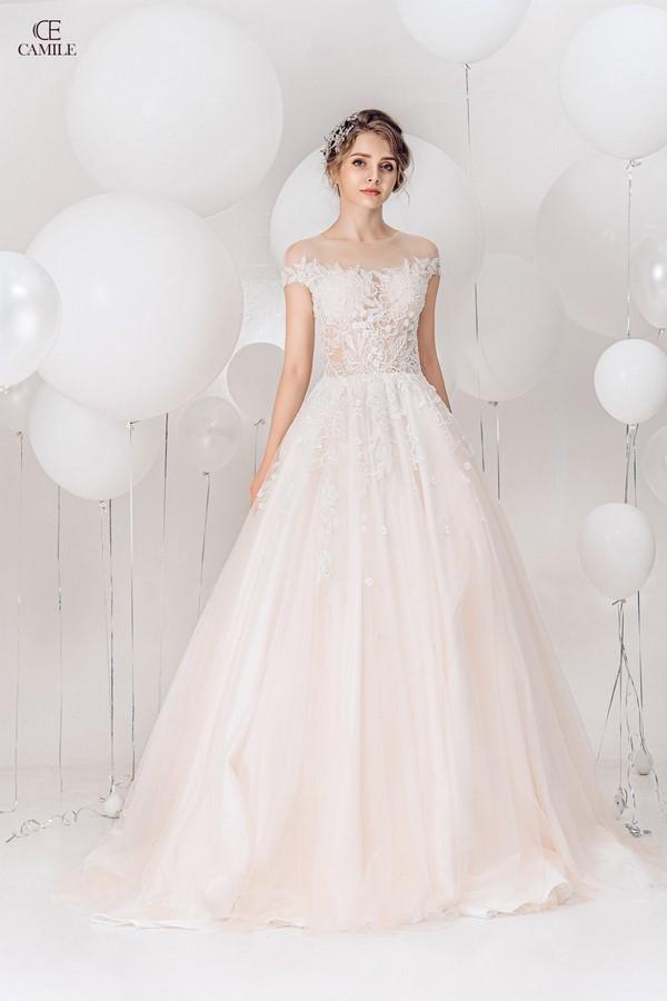 váy cưới dành cho người lùn 4 Địa chỉ cho thuê váy cưới dành cho người lùn đẹp nhất tại Hà Nội