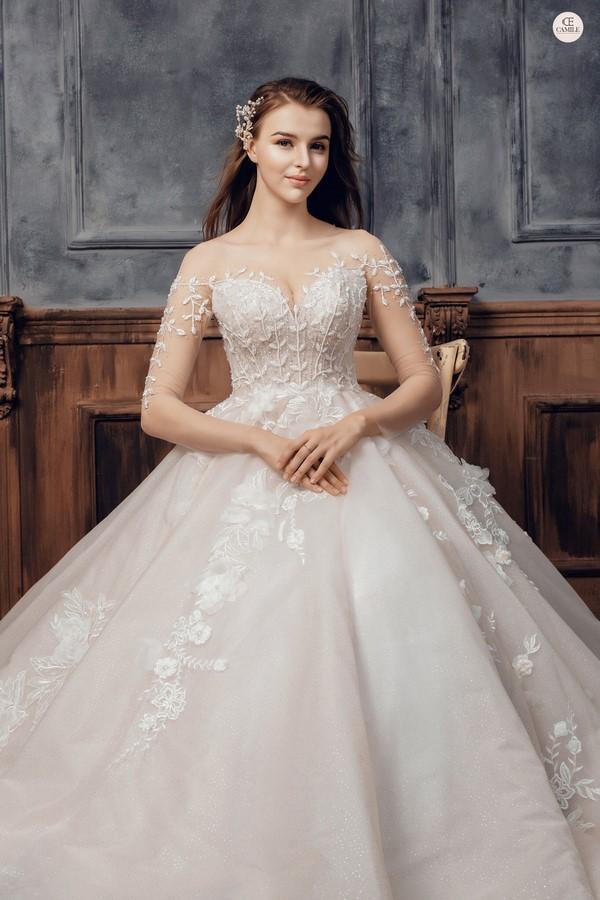 váy cưới dành cho người lùn 5 Địa chỉ cho thuê váy cưới dành cho người lùn đẹp nhất tại Hà Nội